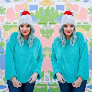 Sweaters - Teal Soft Pullover Sweater